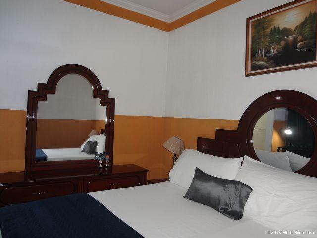 グアテマラ・フローレスのホテル・ヴィラ・デル・ラゴ、デラックスダブルルーム