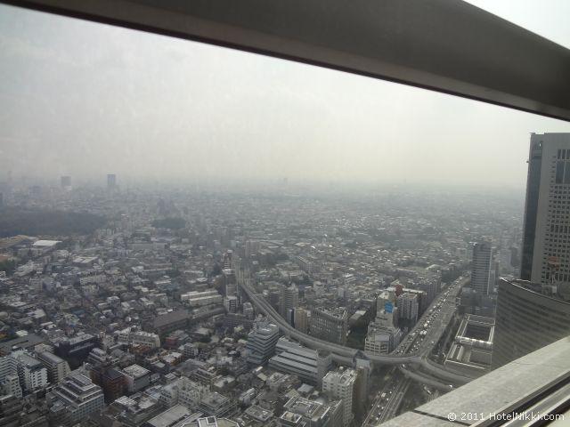 パークハイアット東京 窓からは東京を一望できます