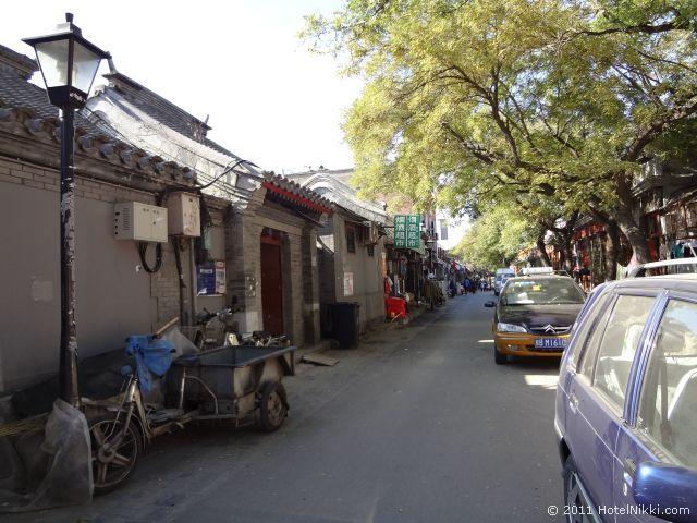 北京 ダブル ハピネス ホテル、胡同内に結構お店があります