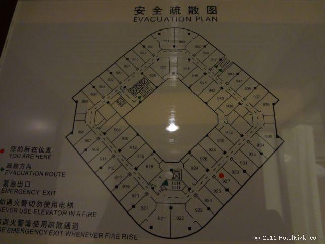 ハワード ジョンソン パラゴン ホテル 北京、フロアプラン