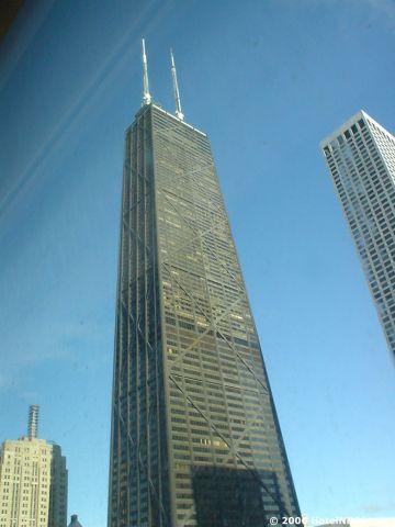 パークハイアットシカゴ 窓からハンコックタワーも見えます