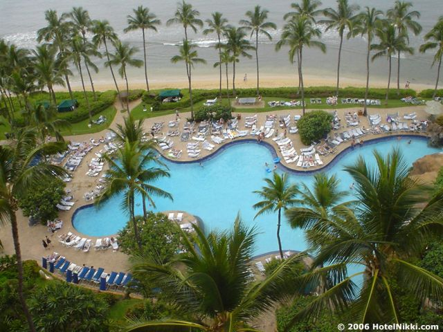 ハイアットリージェンシーマウイ リゾート・アンド・スパ プールも見えます