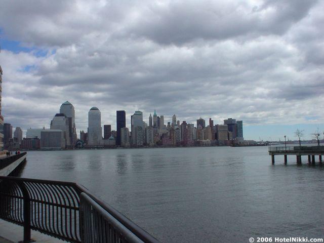 ハイアットリージェンシー ジャージーシティ マンハッタンがきれいに見えます