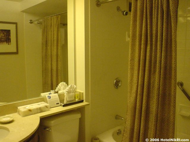 ハイアットハーバーサイドボストンローガン国際空港 バスルーム