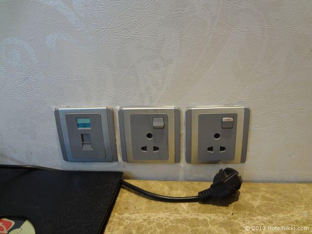 ホテルシティスターニューデリー、ユニバーサルタイプの電源あり