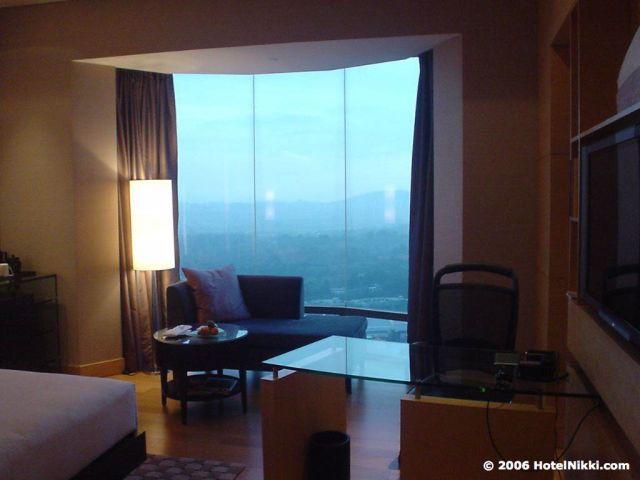 ヒルトンクアラルンプール 客室、高層階から素晴らしい眺め