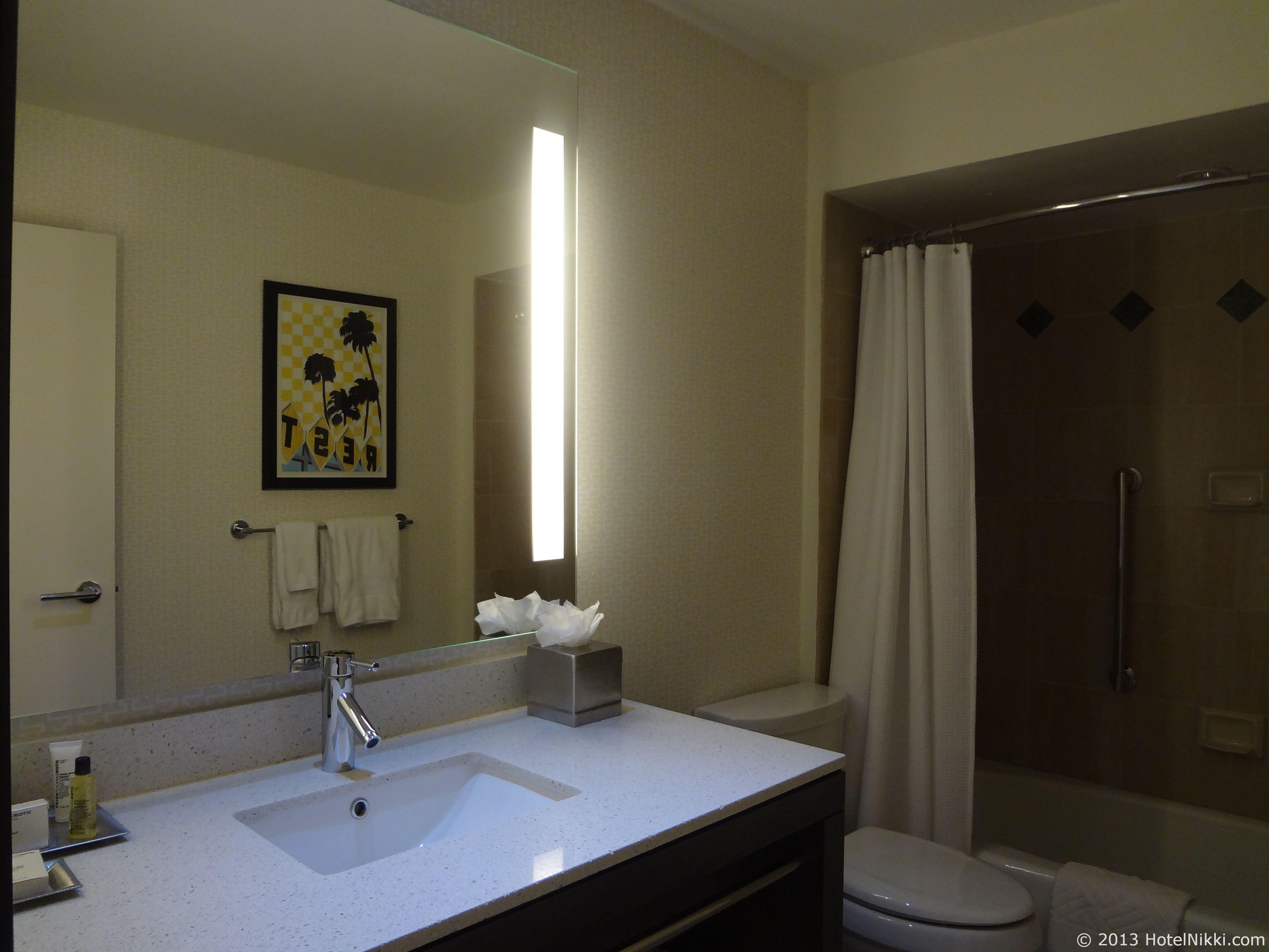 ヒルトンパームスプリングス バスルーム