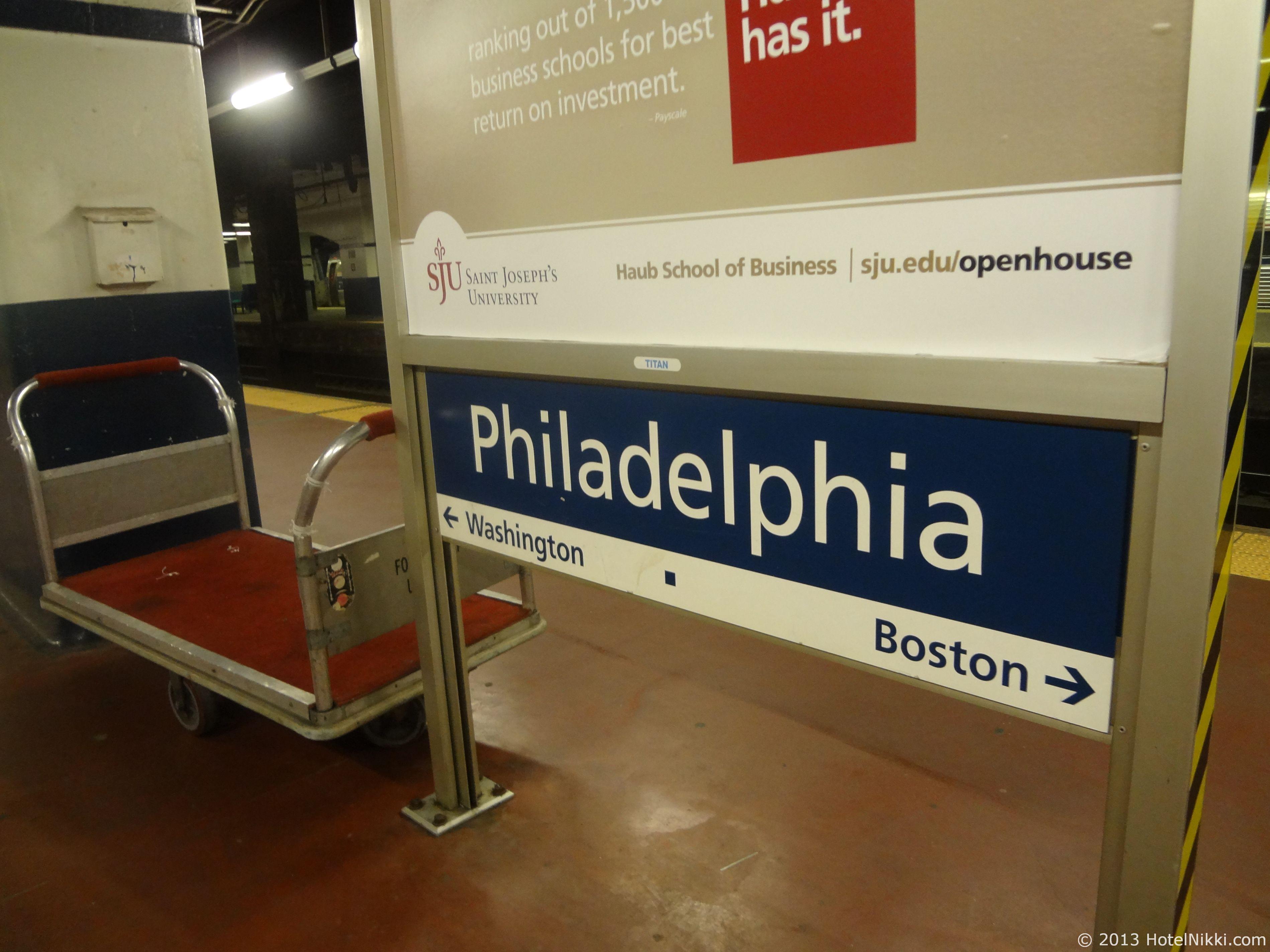 フィラデルフィア日帰り旅行 フィラデルフィア駅