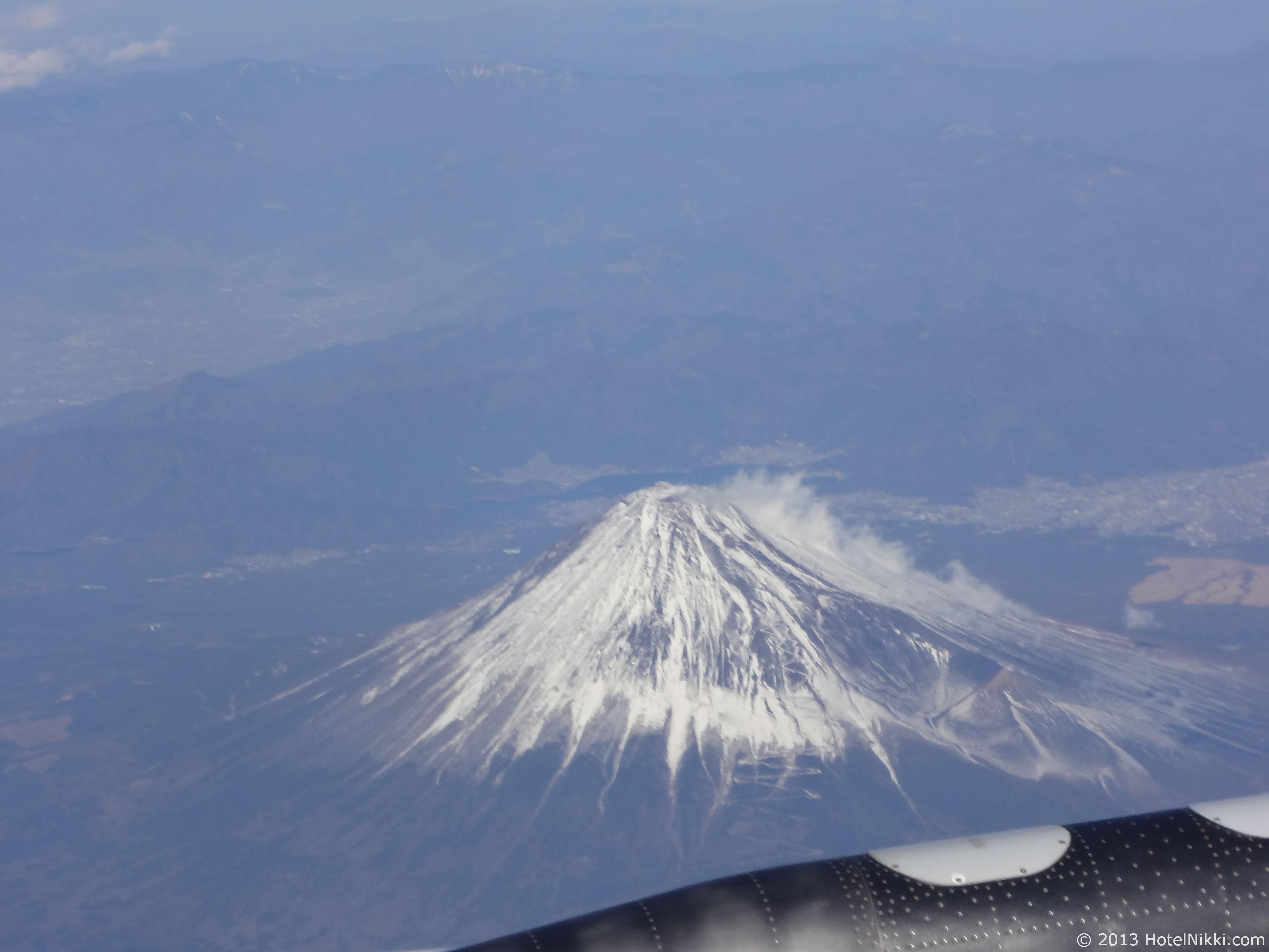 エバー航空 ハローキティジェット 富士山