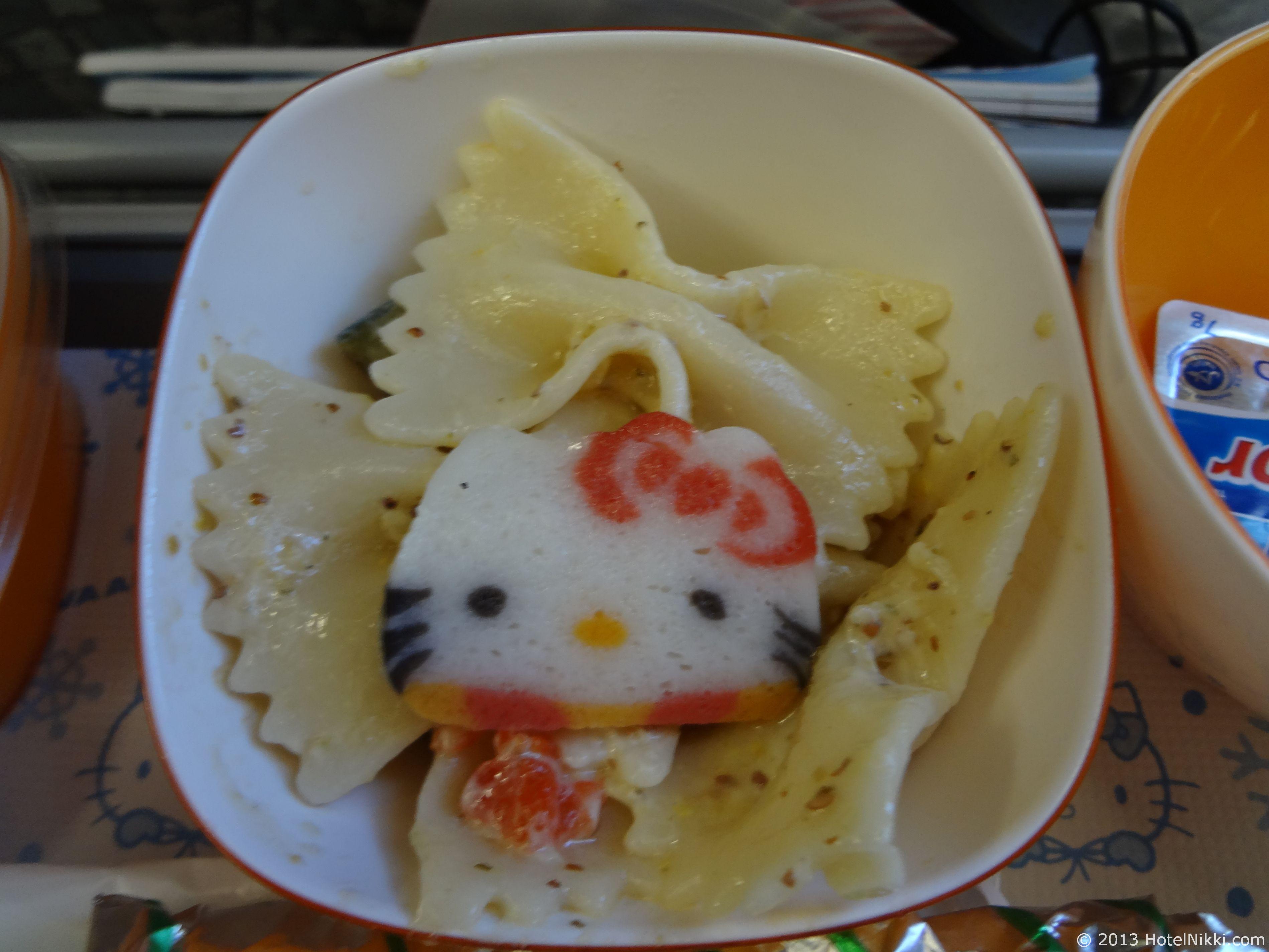エバー航空 ハローキティジェット 機内食サラダ