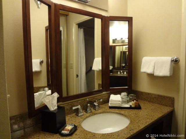 シェラトンパークホテル アナハイムリゾート バスルーム、シンク