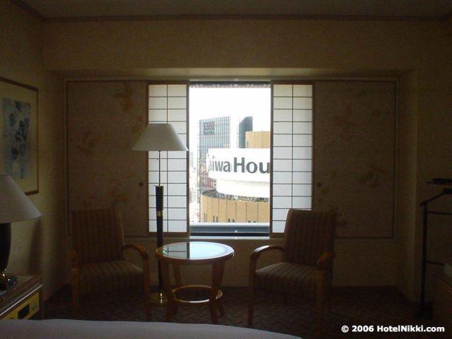 ヒルトン大阪、窓からの景色