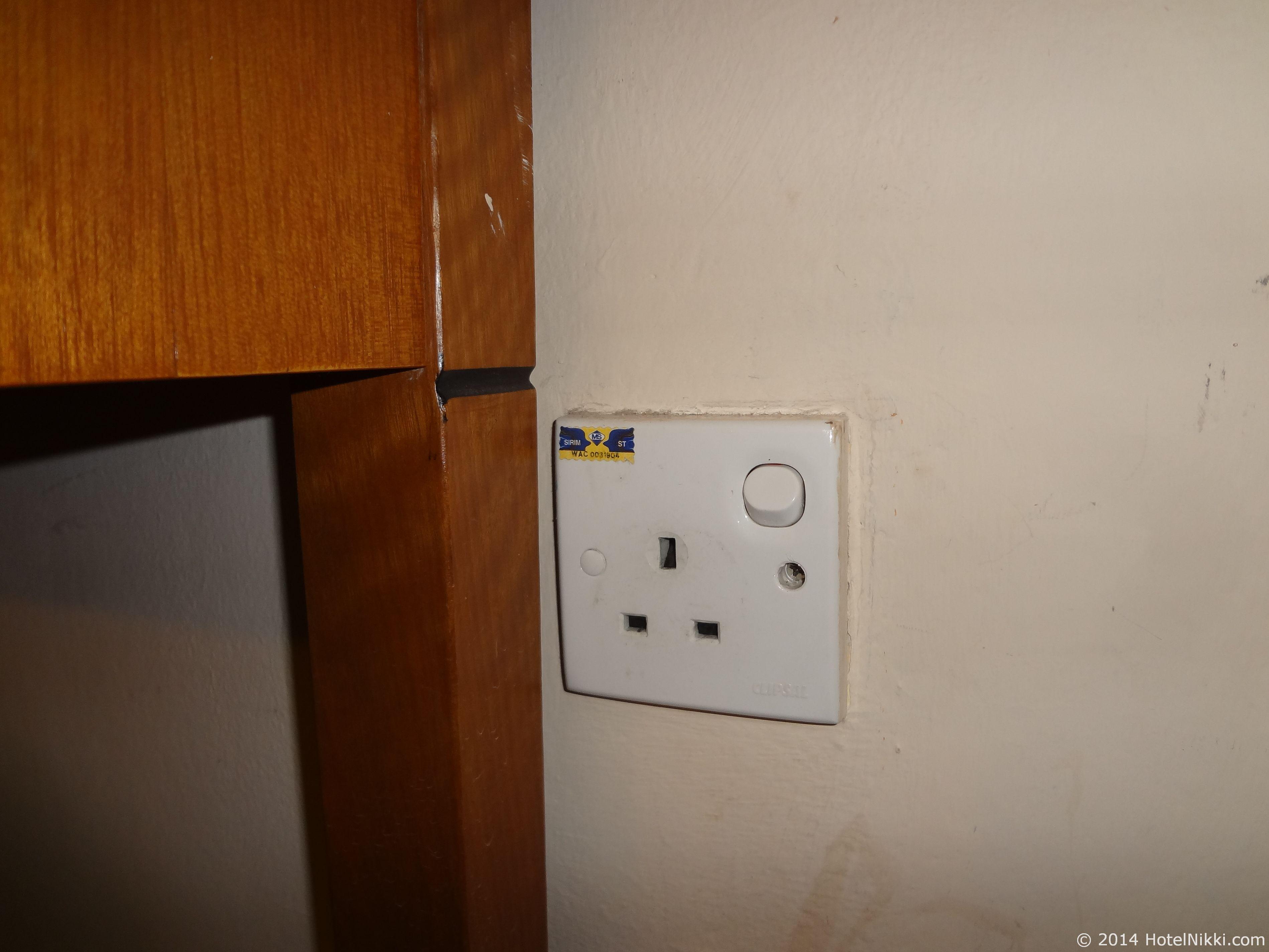 ホテルプリマラッカ 電源