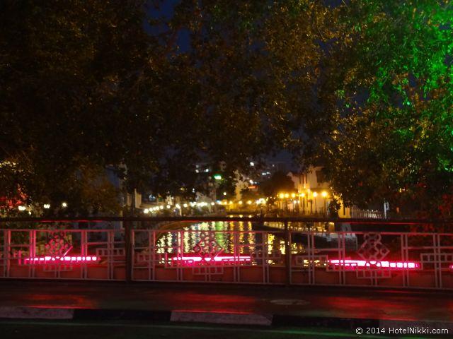 マラッカ写真旅行記2014年3月 リバーサイド夜の風景