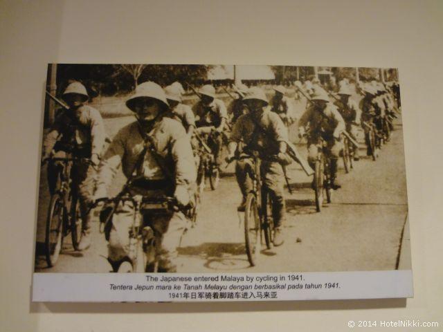2014年3月、マレーシア・マラッカ写真旅行記 自転車で侵入開始する日本軍