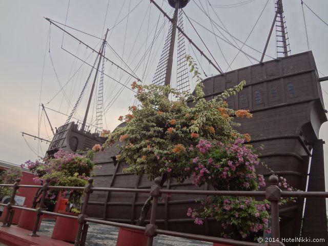 マラッカ写真旅行記2014年3月 リバーサイドの船