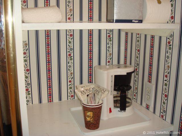 タウン アンド カントリー リゾート ホテル サンディエゴ コーヒーマシン