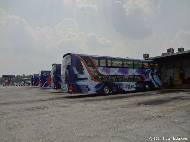 2014年3月、マレーシア・マラッカ写真旅行記 マラッカ~シンガポールを結ぶ長距離バス