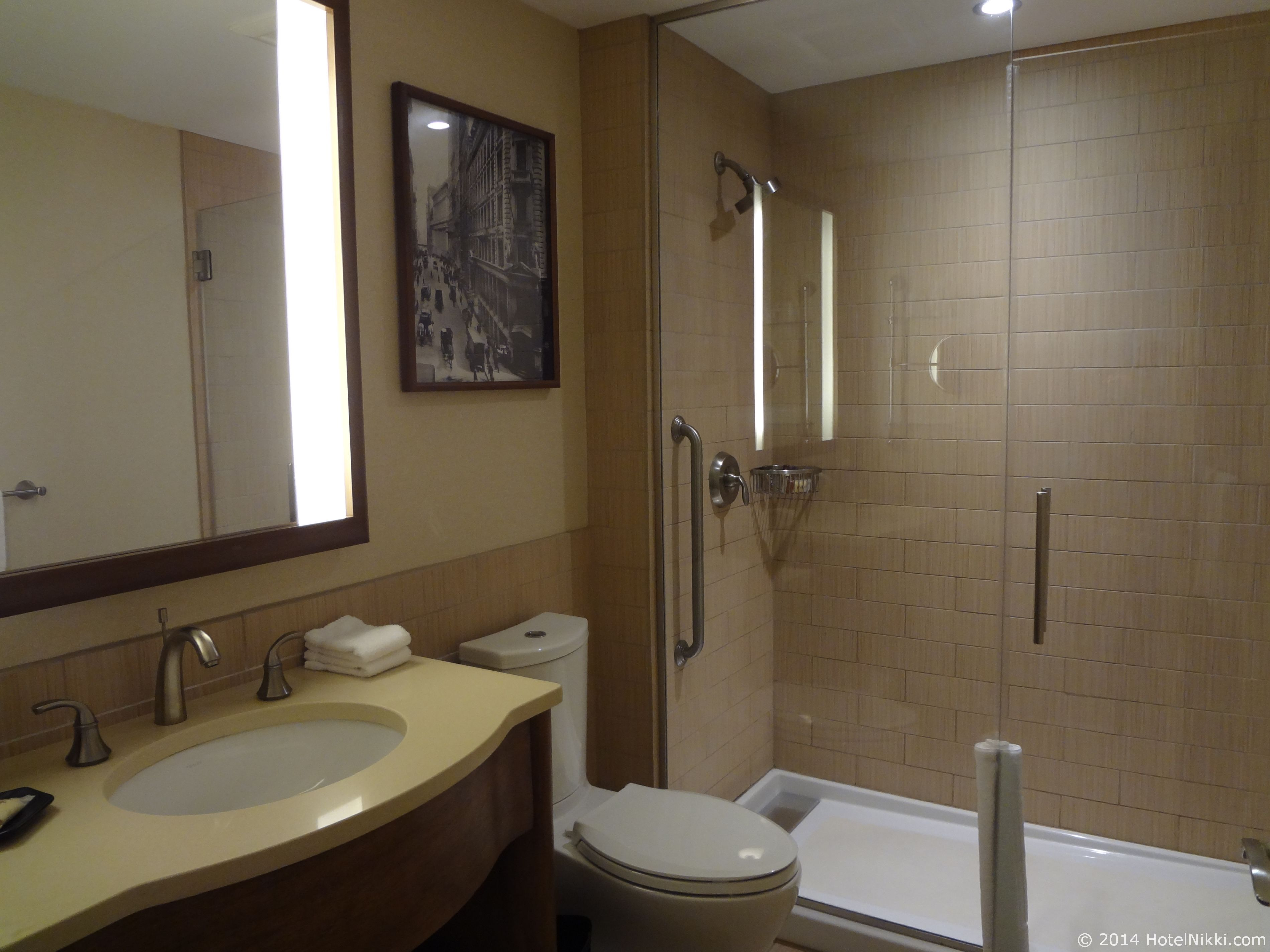 シェラトントライベッカニューヨークホテル 浴室、バスタブつきです