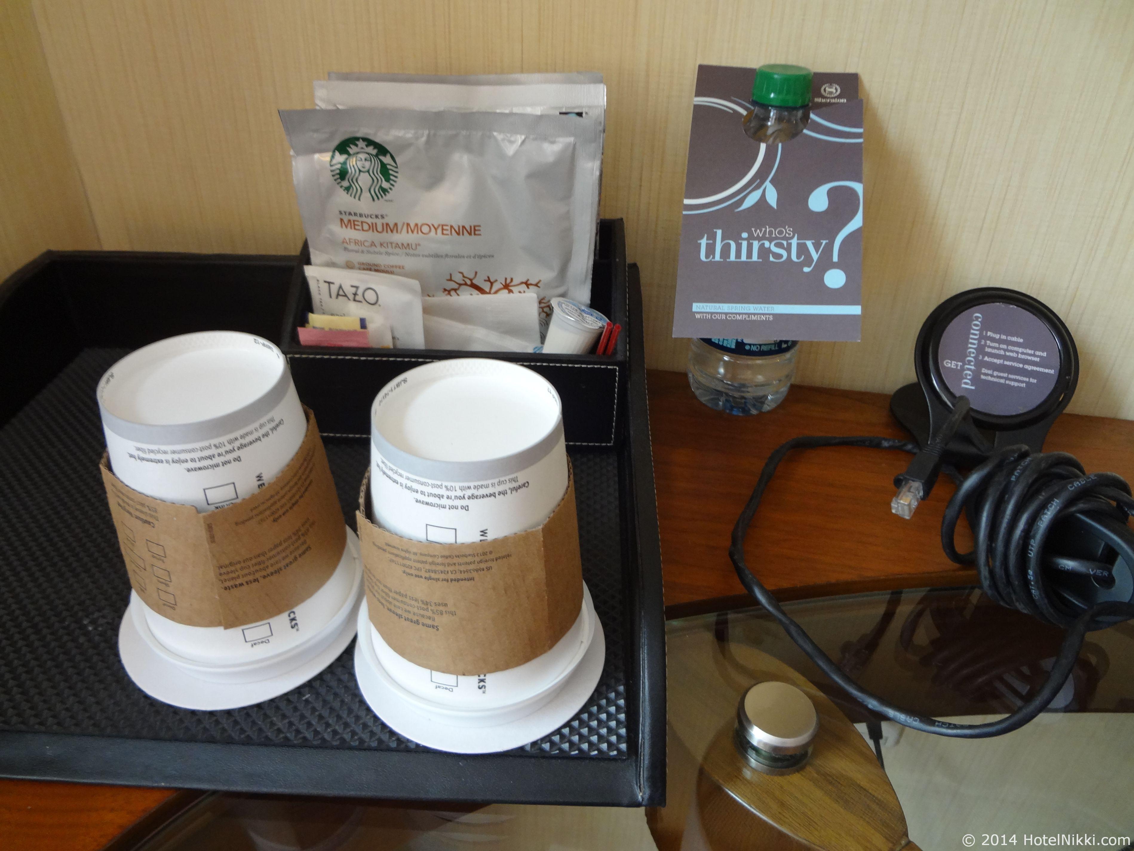 シェラトントライベッカニューヨークホテル スターバックスのコーヒー