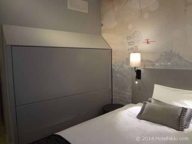 スカンディックホテル・ビポルテン 壁に見えますが、二段ベッドが隠されています