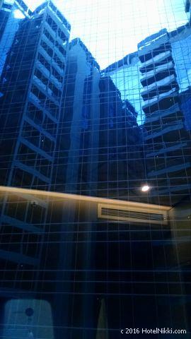 ホテルボス シンガポール、窓からの景色