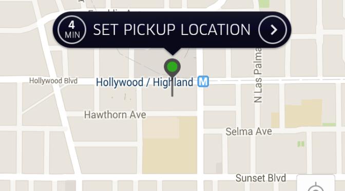 ロサンゼルスでUberを使う!